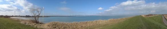Zeeland - panoramafoto uitzicht op Neeltje Jans Deltawerken